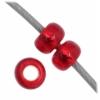 Czech Seedbead 11/0 Medium Red Silverlined
